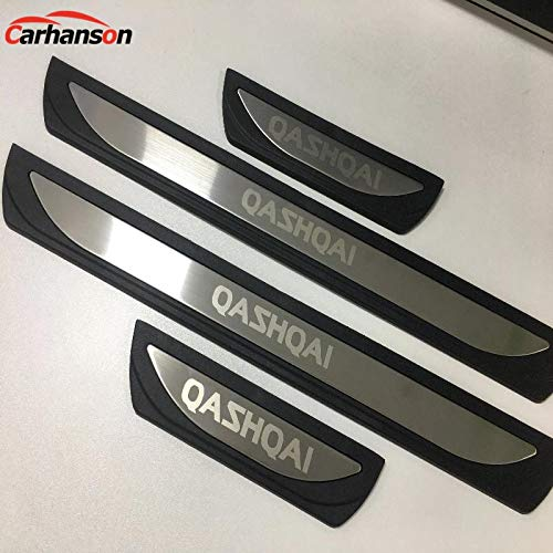 LDXCT 8Pcs Carbon Fiber Car Door Threshold Pedal Sticker Cover Scuff Plate Bumper Protector Film For Mitsubishi Eclipse Cross