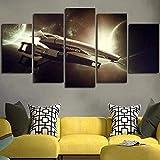 Airxcn Leinwand Bild 5 Teil Panels Mass Effect Normandie