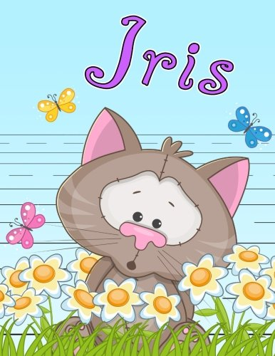 Iris: Personalized Book with Child's Name, Primary Writing Tablet for Kids, 65 Sheets of Practice Paper, 1' Ruling, Preschool, Kindergarten, 1st Grade, 8 1/2' x 11'