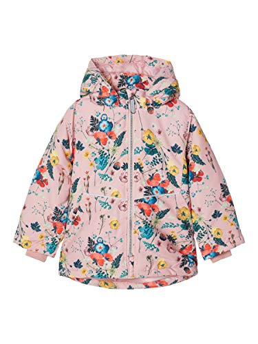NAME IT Mädchen NMFMAXI Jacket FLOWERFIELD Steppjacke, Coral Blush, 92