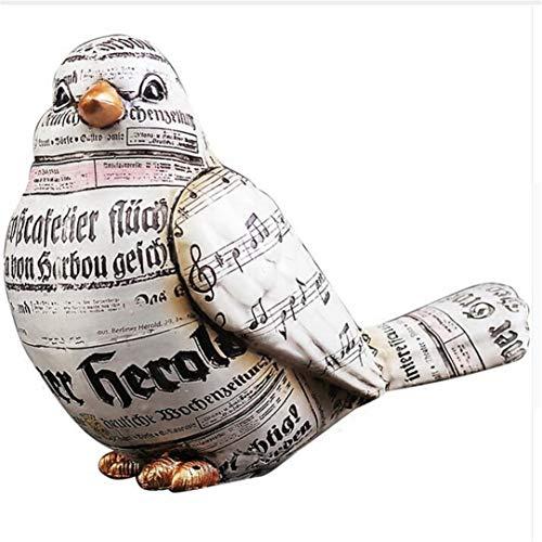 qnmbdgm decoratie Europese hars vogel kleine ornamenten creatieve tv-kast decoratie woonkamer kantoor bureaublad ambachten vintage vogel beeldje geschenken