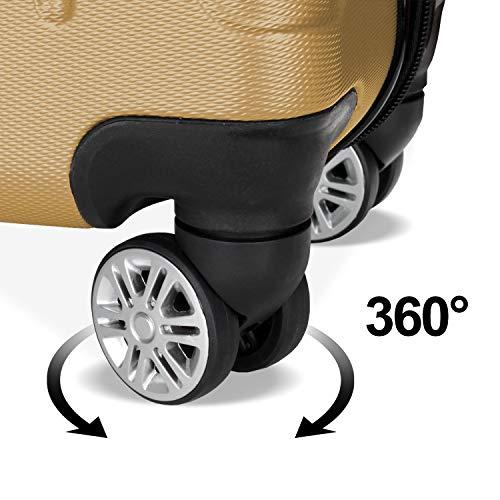 TolleTour Valise de Voyage ABS Ultra Léger Trolley à Coque Dure à roulettes Pivotantes M...