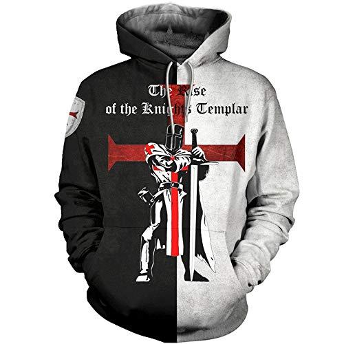 Disfraz de Sudadera con Capucha de Caballero templario Medieval para Hombre Disfraz...