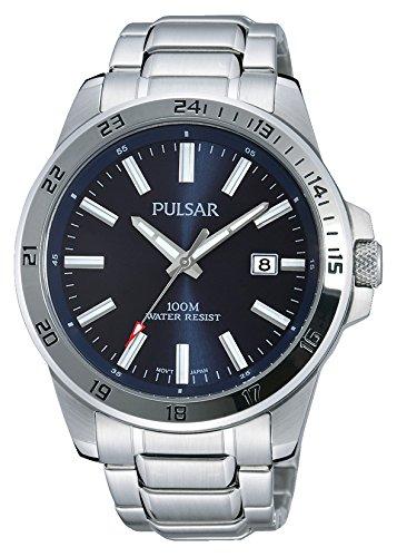 Pulsar Sport Herren-Uhr Edelstahl mit Metallband PS9331X1