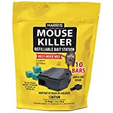 HARRIS Mouse Killer - 10 Bars with Refill Bait Station