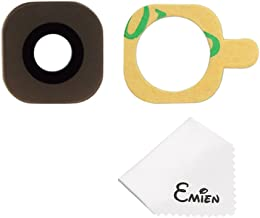 EMiEN Rear Facing Camera Glass Lens Cover Replacement + Adhesive for Samsung Galaxy S6 /S6 Edge G920 G925 (Gold)