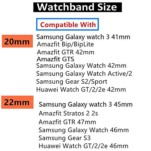 20//22mm Silicone Bracelet pour Samsung Galaxy Montre Gear S3 Huawei Gt Neuf