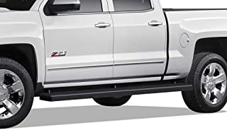 APS Wheel to Wheel Running Boards 5in Custom Fit 2007-2018 Chevy Silverado GMC Sierra Crew Cab 5.5ft Short Bed & 2019 2500 3500 HD (Exclude 07 Classic)(Include 19 1500 LD) (Nerf Bars Side Steps Bar)