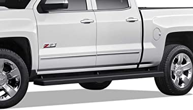 APS iBoard (Black 5in Wheel to Wheel) Running Boards Nerf Bar Compatible with 2007-2018 Chevy Silverado GMC Sierra Crew Cab 5.5ft Short Bed & 2019 2500 3500 HD (Exclude 07 Classic)(Include 19 1500 LD)