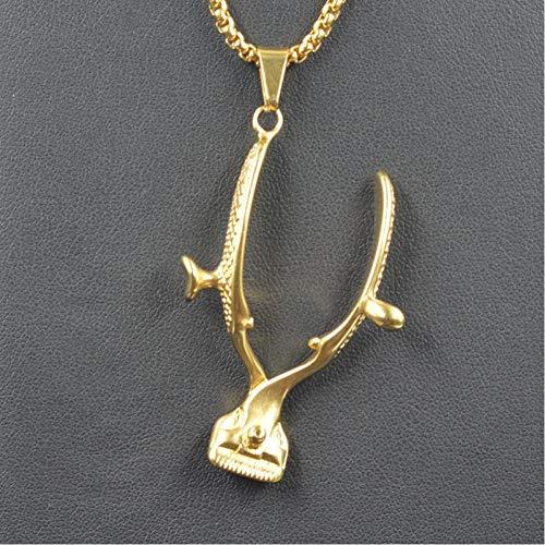 VFDGB Gold Farbe Barber Clipper Anhänger Halsketten Metall Haar Clipper Anhänger Männer Barbershop Schmuck Geschenk