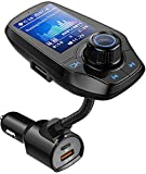 Guanda Bluetooth FM Transmitter for Car, Bluetooth Car Adapter, 4-in-1 Car MP3 Player with 1.8 Inch Color Display, AUX Input/Output, 3 Port USB, S Handsfree Call, SD/TF Card,USB Disk,PD 20W,5 EQ Modes