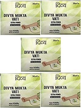 5 x Ramdev Divya Herbal Ayurvedic Mukta Vati  For High Blood Pressure  - - Shipping by FedEx