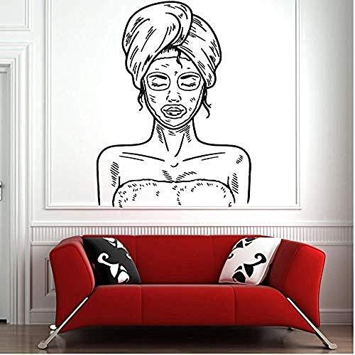 YAZCC Wandaufkleber Maske Hautpflege Zitat Kunst Aufkleber für Zuhause Schlafzimmer Büro Spruch Wandbild Tapete Geburtstagsgeschenk 56X75 cm