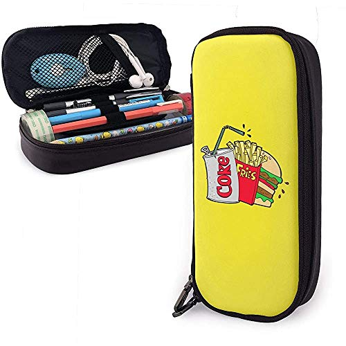 Junk Food und eine Diät Cola Pencil Case Pen Case Pencil Pouch Briefpapier Organizer Cosmetic Makeup Bag