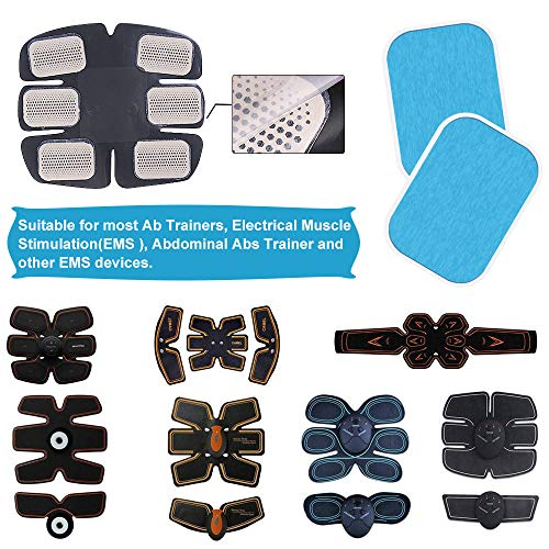 Dreamtop 60 Pcs (30 Packs) Abs Trainer Gel Pads Muscle Toner Pads Replacement Gel Sheet for Abs Toner Abdominal Workout Toning Belt