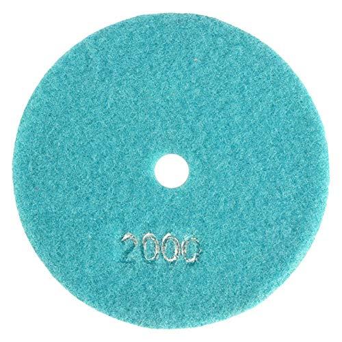 Discos de pulido, kit de pulido húmedo/seco, almohadillas de pulido de diamante húmedo de 125 mm, discos de pulido para granito, hormigón, mármol(2000)