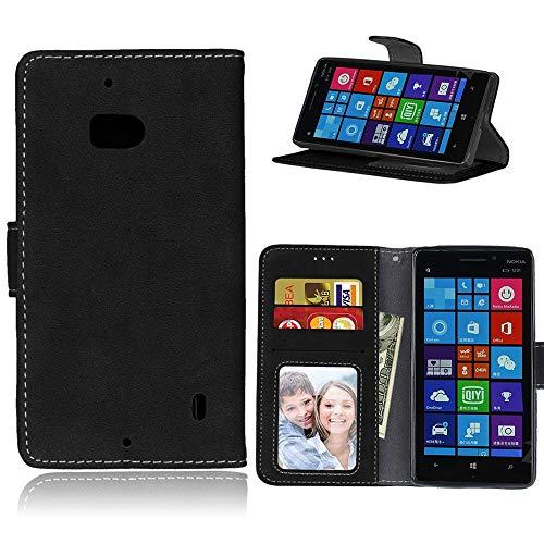Sangrl Cover per Nokia Microsoft Lumia 930, Book Style PU Pelle Custodia Ultra Slim Protettiva Cover Retro Frosted Custodia in Pelle Flip Case Nero