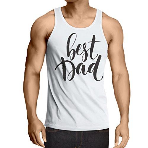 lepni.me Camisetas de Tirantes para Hombre El Mejor papá! Traje para el Día del Padre para el Esposo o el Abuelo