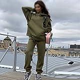 WJTMY 2020 Trajes de otoño chándal de Mujer con Capucha y Pantalones de Gran tamaño, Traje de Deporte Casual, Pieza de Invierno, Conjunto de Mujer (Color : A, Size : Medium)