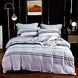 unknow Tencel Printing 4-teiliges Bettwäsche-Set,Bettbezüge Mit Aus Gewaschener Seide Mit Doppelbett,leichte Europäische Premium-Bettwäsche Mit Kissenbezügen