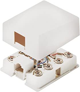 Steren 300-203WH 4C White Smooth Flush Jack Mid Size Steren Electronics