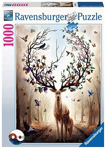 Ravensburger Puzzle- Cervo Magico 1000 Pezzi Jigsaw Adulti, Premium Puzzle con Tecnologia Softclick, età Consigliata 12+, 15018 2