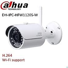Dahua IP Wifi Camera IPC-HFW1320S-W 3.0MP 3.6mm Lens HD Mini-Bullet Network Security Camera,Original English Version with Dahua Labeling,Support 128G SD Card