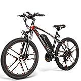 SAMEBIKE Bicicleta Eléctrica de Montaña 26 Pulgadas para Adultos, Marco de Aluminio de...