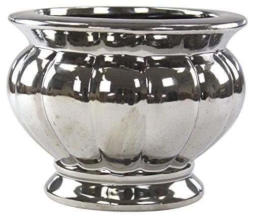 Decoline Pflanz-Gefäß Amphore Silber 1 Stück - klein