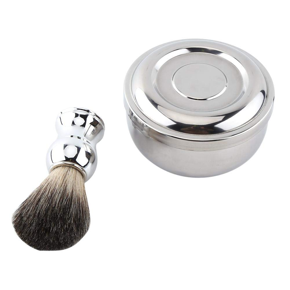 Duevin Kansas City Mall Shaving Soap Mug Bowl With Fashion Lid + Silver Handle Faux Badge