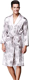 Daiwenwo Men Robe Gown Sleepwear Plus Size Luxurious Summer Autumn Bath Robe Nightwear Male Pajamas WP032