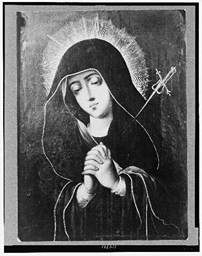 HistoricalFindings Photo: Mater Dolorosa,Virgin Mary,Blessed Saint,1920-1947,Praying,Religion