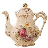 Caffettiera fatta a mano, teiera del latte, caffettiera in ceramica domestica, bollitore freddo in stile europeo, caffettiera (Color : D)