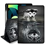 Wolf Cub iPad Air 4 Case 10.9 inch 2020 Case Custom Stand Hard Back Shell Smart Auto Wake/Sleep Protective Case for iPad Air 4th Generation Case 2020 10.9 inch Folding Stand Cover with Pencil Holder