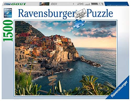Ravensburger- Puzzle 1500 pièces Vue sur Les Cinque Terre Adulte, Multicolore