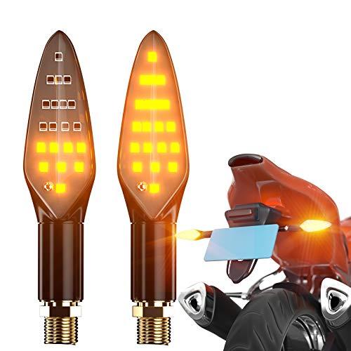 CCAUTOVIE Frecce Moto LED Omologate Indicatori di Direzione Moto Universali Frecce Led Moto Custom Impermeabile IP67 Ambra E4 (2)