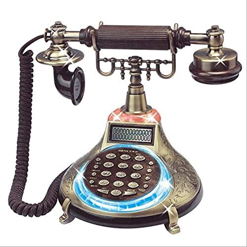 YUBIN Teléfono Fijo Antiguo Fibra conectable de Fibra sentada Cuerda de Alambre ID de Llamada Teléfono