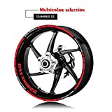 Moto Dischi Adesivi Wheel Set decalcomanie Vestito for Suzuki GSX R1000rr GSX R1000RR Usa for le due ruote le decalcomanie Mei Racing (Color : XT LQ gsxr1000rr RED)