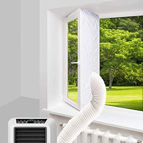 Fensterabdichtung für mobile klimageräte,Klimaanlagen,Wäschetrockner und Ablufttrockner,400CM Fensterabdichtung,Universal Fensterdichtung für Dachfenster,Klimaanlage