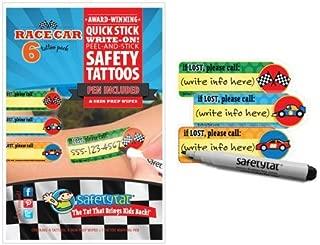 Quick Stick Write-on! Child ID Tattoos (Race Car)