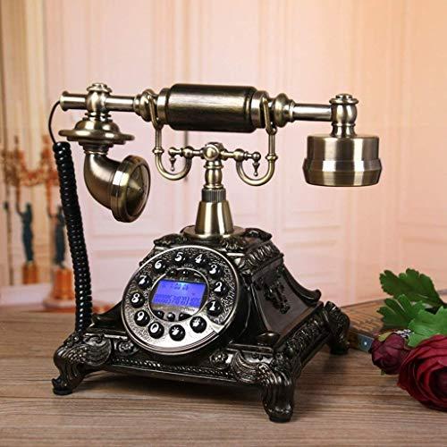 FHISD Teléfono Retro con pulsador Identificación de Llamadas telefónicas Teléfono Fijo Pantalla LCD Teléfono Fijo Teléfono para el hogar Cocina Hotel Oficina Teléfonos a Prueba de Humedad