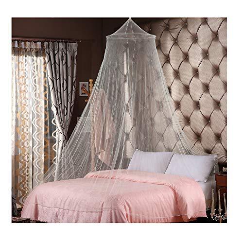 LXGKREL Moskitonetz für Doppelbetten Einzelbett Weiß Mückennetz Mückenschutz Moskitoschutz feinmaschig für Reise und Zuhause Insektennetz