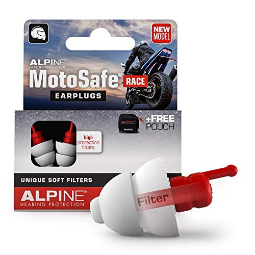 Alpine MotoSafe Race Ear Plugs for Hearing Protection While Motorcycling -...