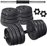 MOVTOTOP Adjustable Dumbbells Set 110 LBS, Dumbbells Set for Women and Men, Weights Dumbbells Free Disassemble Barbell Set with Connecting Rod for Home Fitness