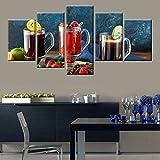 Arte de la pared moderno restaurante cocina decoración del hogar fruta comida jugo cartel lienzo impresión sin marco 40 * 60 40 * 80 40 * 100