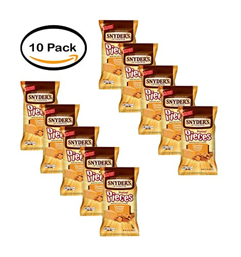 PACK OF 10 - Snyder's of Hanover Pretzel Pieces, Cheddar Cheese, 12 Oz