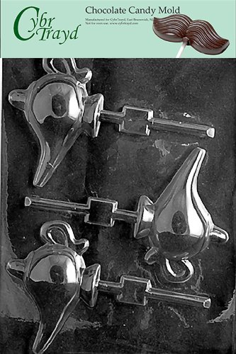 Cybrtrayd M118 Magical Lamp Aladdin Chocolate Candy Mold with Exclusive Cybrtrayd Copyrighted Chocolate Molding Instructions