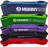 MummyStrength Resistance Bands for Men and Women. The Best Stretch Band for Pull Up Exercise and...