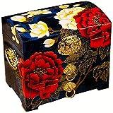 UGJ Caja Joyero Chino, Alta Capacidad Artesanías De Laca Pintada Caja De Almacenamiento De Madera Organizador De Baratijas para Regalos De Cumpleaños De Las Mujeres (Color : E)