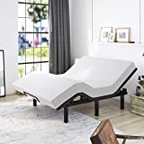 Allewie Adjustable Bed Base Frame / Queen Size Bed Upholstered Frame Head and Foot Incline / Wireless Remote Control Adjustable / Wood Board Support / (Queen Adjustable Bed Only)